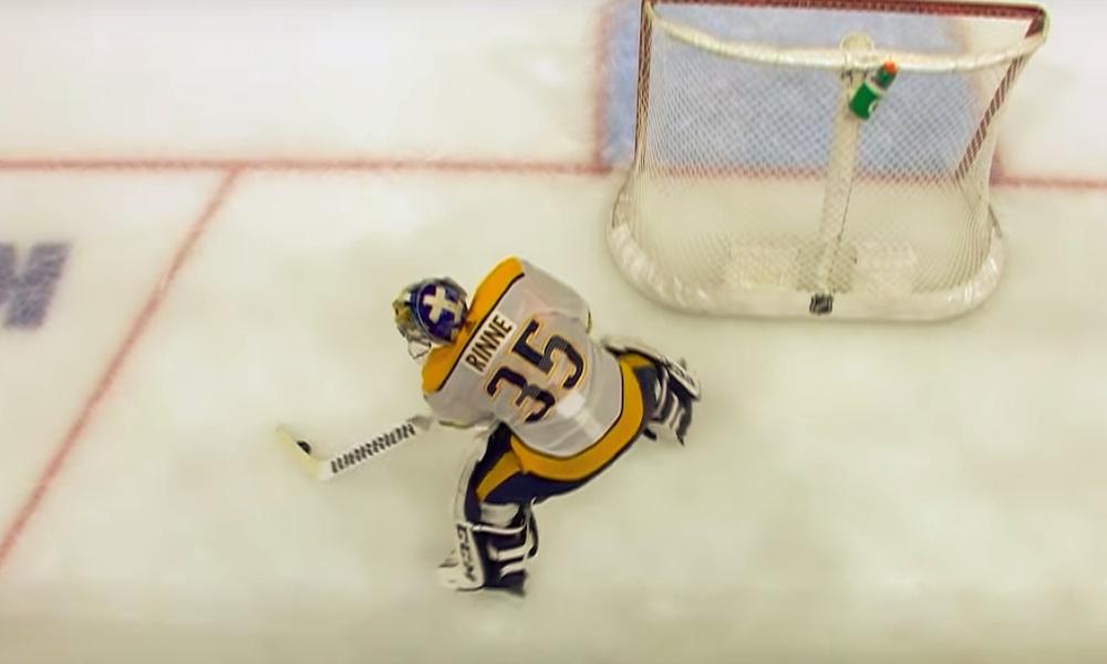 Pekka Rinteen maali ehdolla Vuoden maaliksi: ehdokkaita on yhteensä neljä ja valinnan pääsevät tekemään NHL-fanit.