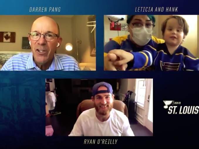 St. Louis Bluesin Ryan O'Reilly yllätti 3-vuotiaan pikkufanin mielettömällä tavalla ja tulee toteuttamaan tämän toiveen heti, kun se vain on mahdollista.