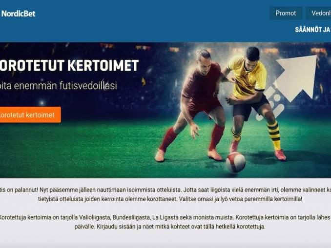 NordicBetiltä nyt korotetut kertoimet ilman kierrätysvaatimuksia!