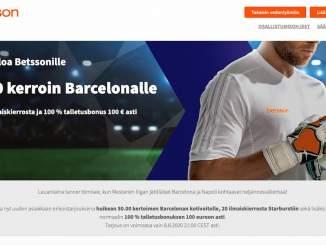 FC Barcelonan voitolle superkerroin 50,00 Mestarien liigan ottelussa Napolia vastaan!