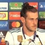 Gareth Bale golfasi Espanjassa, kun Real Madrid kohtasi Manchester Cityn Mestarien liigassa.
