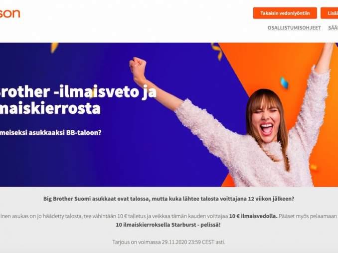 Betssonin 10 € ilmaisveto Big Brother Suomi -kohteisiin on tarjolla sekä vanhoille että uusille asiakkaille.
