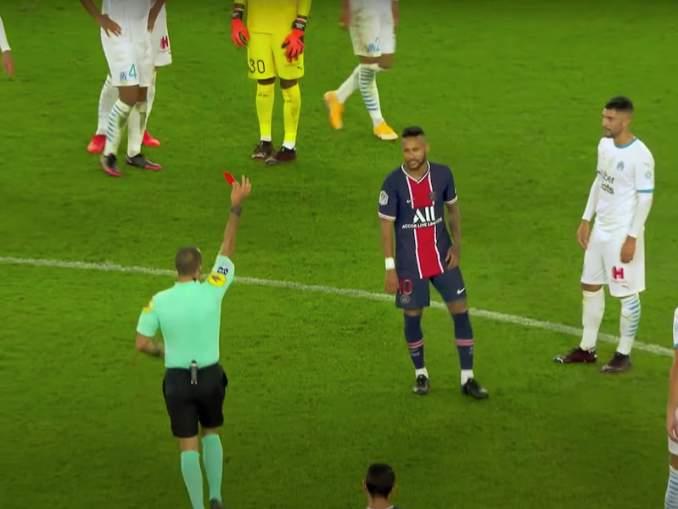 Neymar kiehui punaisen korttinsa jälkeen: syytti Marseillen Alvaro Gonzalezia rasismista.