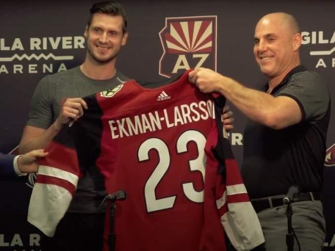Boston haluaa Oliver Ekman-Larssonin: Arizona Coyotes on puolestaan kiinnostunut Urho Vaakanaisesta.