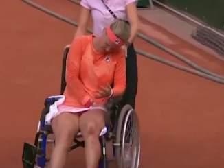 Tennistähti poistui kentältä pyörätuolissa todella kovien kramppien takia. Tästä huolimatta vastustajalta ei löytynyt minkäänlaista sympatiaa.