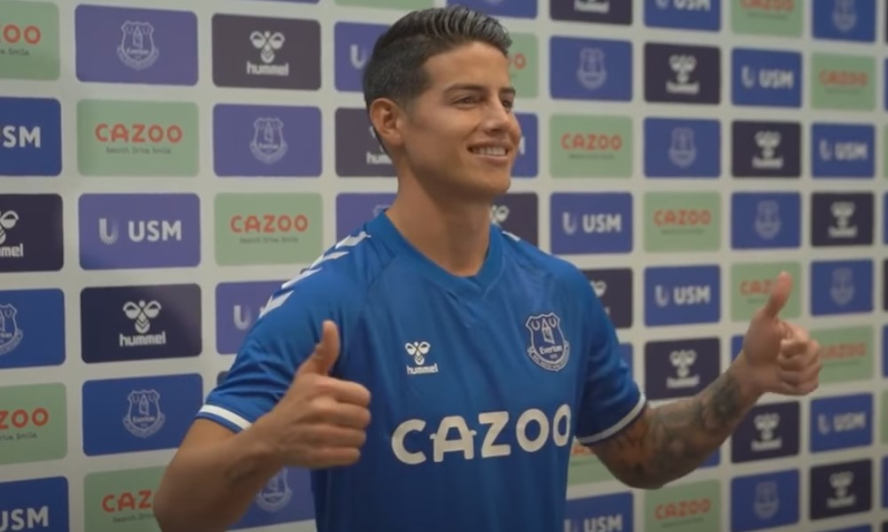 Real Madridin johto järkyttyneenä - James Rodríguez loistaa Evertonissa.