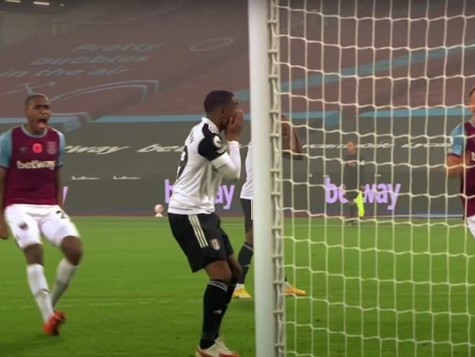 Kaikkien aikojen rankkarimoka? Fulhamin Ademola Lookmanin yritys lisäajan kahdeksannella minuutilla epäonnistui katastrofaalisella tavalla.