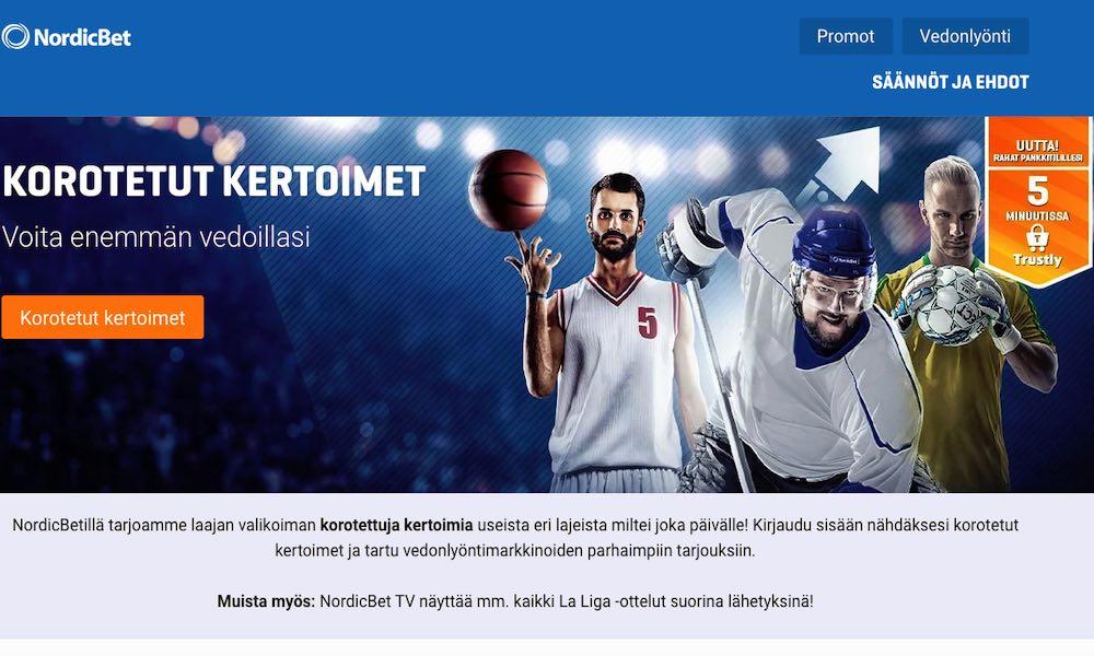 NordicBetin päivittäiset korotetut kertoimet löydät tämän sivun kautta!